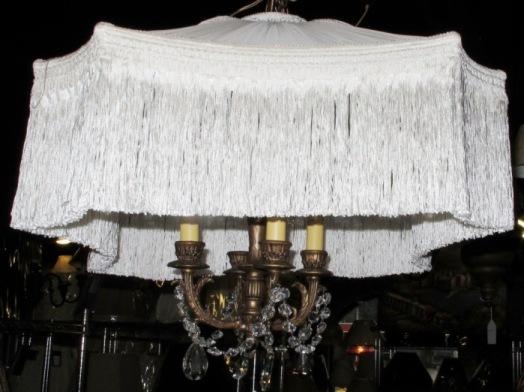 Antique art deco hanging lamp shade