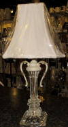 Small Boudoir antique crystal lamp