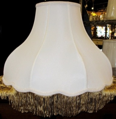 Victorian lamp shades by lamp shade outlet 7x18x13 victorian lamp shade scallop bottom with fringe aloadofball