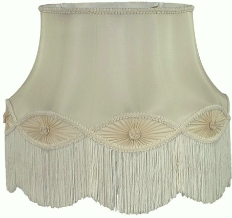 Victorian lamp shade sage green