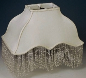 Victorian lamp shades by lamp shade outlet victorian lamp shade rectangle scallop bottom with beaded fringe trim aloadofball Image collections