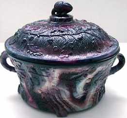 purple slag glass from 1880
