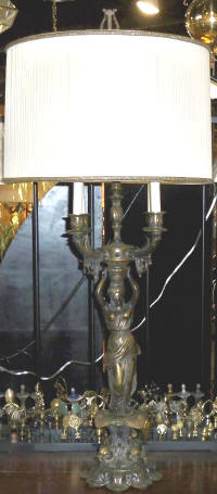 Correct shade size fitting for a candelabra lamp