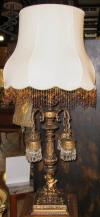 Antique Victorian lamp Moroccan gothic design