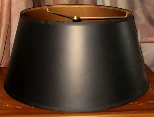Available Any Size, Paper Lamp Shade, Black Bouillotte