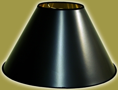 Black Lamp Shades with Gold and White Linings