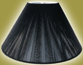 Black lamp shades with gold and white linings 7x16x125 black lamp shade silk string coolie aloadofball Gallery