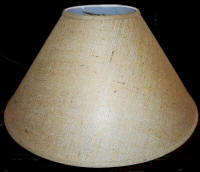 Burlap lamp shade coolie