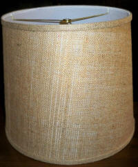 Chandelier shade burlap drum shape