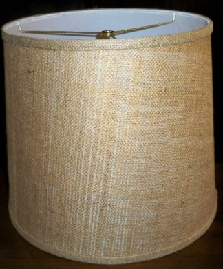 burlap lamp shades by lamp shade outlet. Black Bedroom Furniture Sets. Home Design Ideas