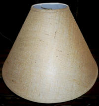 Burlap lamp shade empire