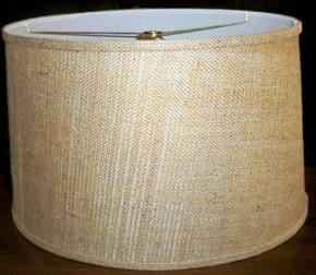 Short drum lamp shades 12x14x85 69 drum shade burlap aloadofball Choice Image
