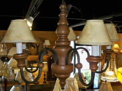 Chandelier Rustic country wood chandelier