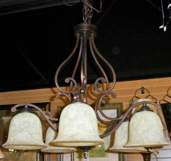 Chandelier Rustic bronze iron