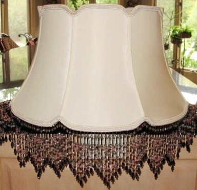 Custom Lamp Shade: ... Custom lamp shade with beaded fringe,Lighting