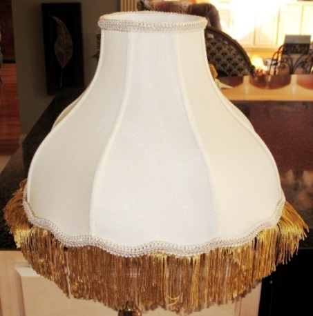 Superior Custom Antique Victorian Lamp Shade Gold Fringe Trim