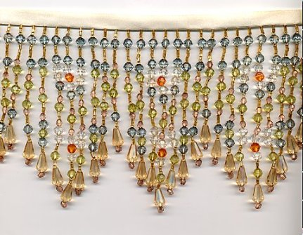 Victorian lamp shades by lamp shade outlet victorian lamp shade gold beads aloadofball Images