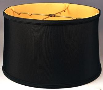 Short drum lamp shades 11x12x10 49 drum shade black aloadofball Choice Image