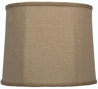 Burlap lamp shades by lamp shade outlet burlap lamp shade drum with braid trim aloadofball Image collections