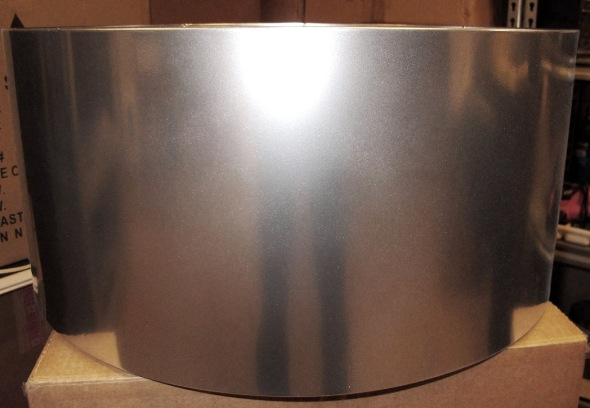 drum shade chrome metal
