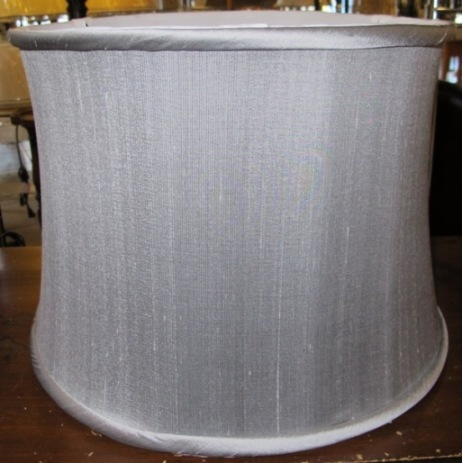 Short drum lamp shades 7 available drum shade silk gray aloadofball Gallery