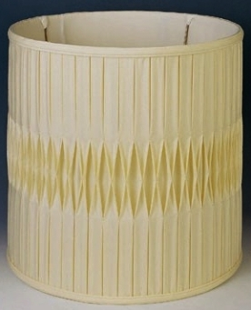 Light Beige Drum Shade Tall Pleated