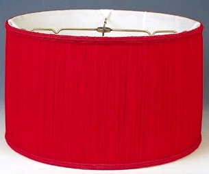 Short drum lamp shades 17x18x95 109 drum shade red aloadofball Choice Image