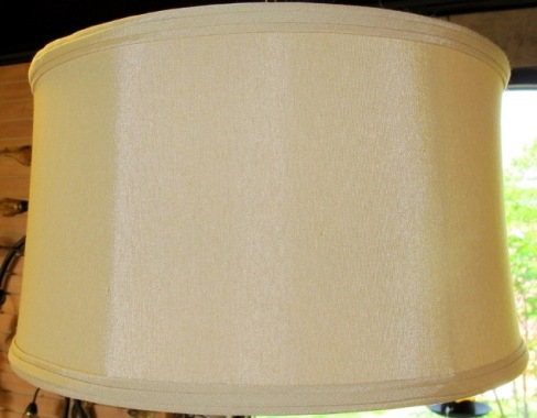 17x18x10 169 drum shade golden tan silk