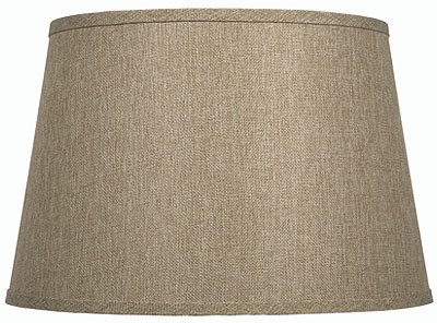 Linen lamp shades with textured woven fabrics limited quantity tweed shallow drum shade aloadofball Image collections