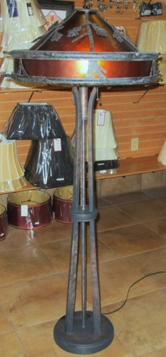Mica floor lamps fine quality custom designs mica floor lamp oak tree leaf design aloadofball Gallery