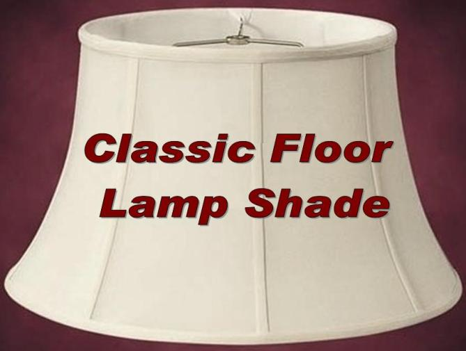Floor lamp shades for standing pole lamps floor lamp shade silk our most popular classic style mozeypictures Image collections
