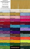 Fringe color chart for custom lampshades