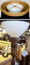 Reflector waffle pattern opal white torchiere glass shade