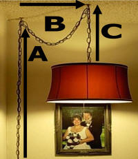 How to hang a swag lamp