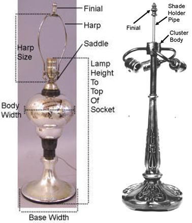 Lamp shade fitting by lamp shade outlet lamp measurements aloadofball Choice Image