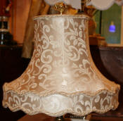 Victorian lamp shade scallop gallery bell