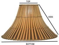Lamp shade fitting, how to measure a lamp shade, how to buy a lamp shade, correct size lamp shade, LIVE HELP available.