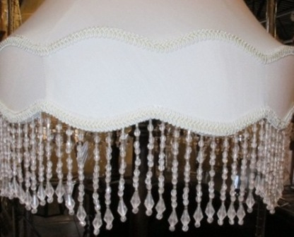 Victorian lamp shades by lamp shade outlet victorian lamp shade gallery bell with custom beads aloadofball Choice Image