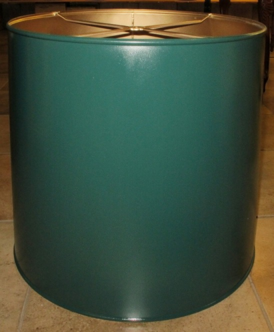Metal Drum Shade Painted Hunter Green Color