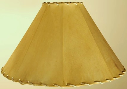 rawhide lamp shade coolie stylemade of real sheep skin. Black Bedroom Furniture Sets. Home Design Ideas