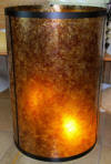 Custom drum mica lamp shade