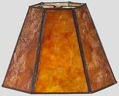 Mica shades of amber or silver custom sizes shapes and design themes amber or silver mica hex mica lamp shade aloadofball Images