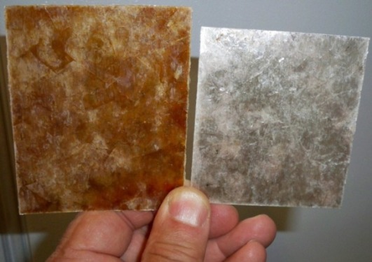 Mica Shades of Amber or Silver, Custom Sizes, Shapes and Design Themes