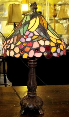 gold mini tiffany lamp