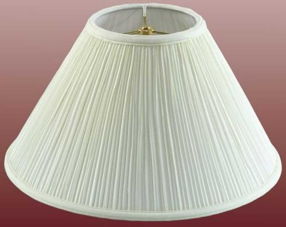 Modern wide coolie pleated lamp shade