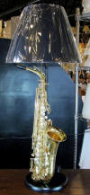 Music lamp - saxophone lamp