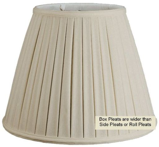 Pleated lamp shade box style