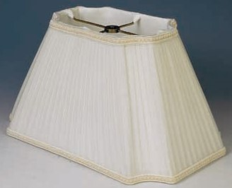 rectangle lamp shade silk pleated