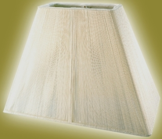 Rectangle lamp shades with elongated square shapes rectangle lamp shade string silk aloadofball Choice Image
