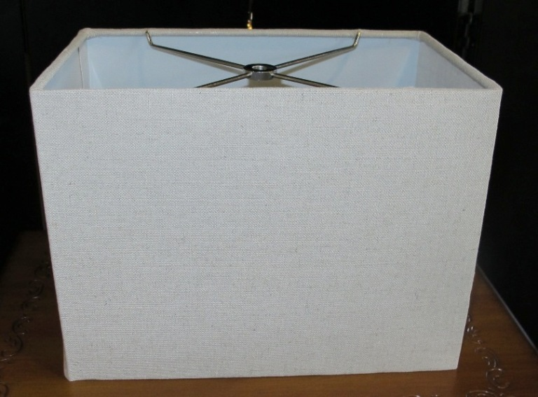 rectangle lamp shade natural linen straight sides - Rectangular Lamp Shades